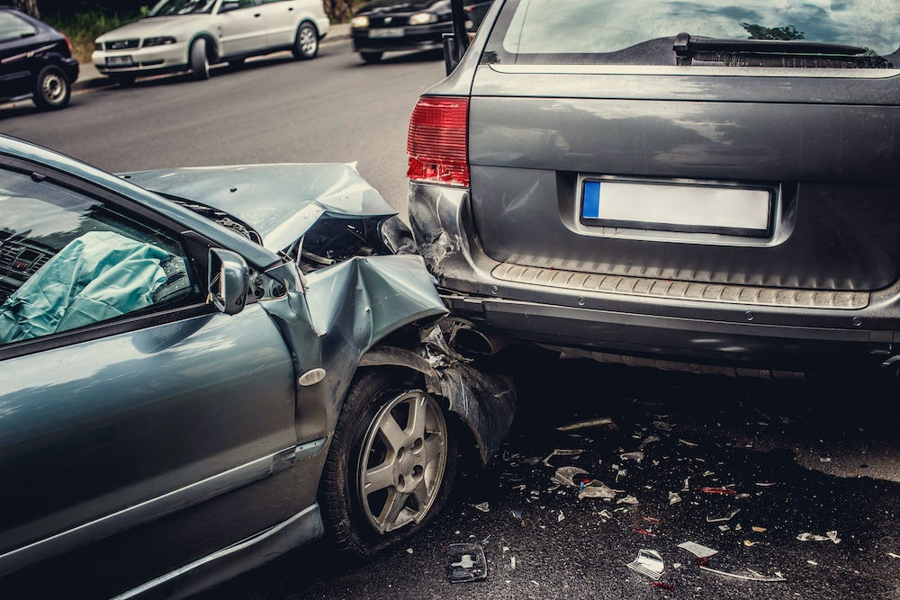 Two Cars Totaled Crash Personal Injury Ontario