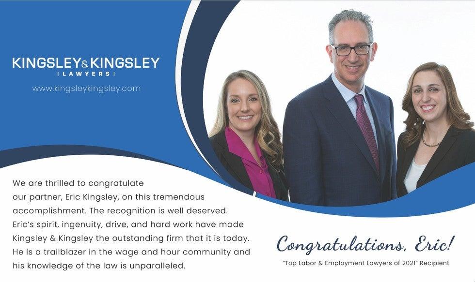 Eric Kingsley Top Employment Lawyer Award