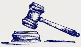Ink drawling of a gavel