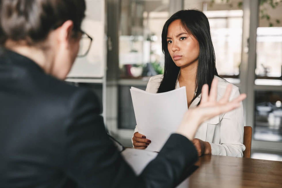 sexual discrimination during work interview
