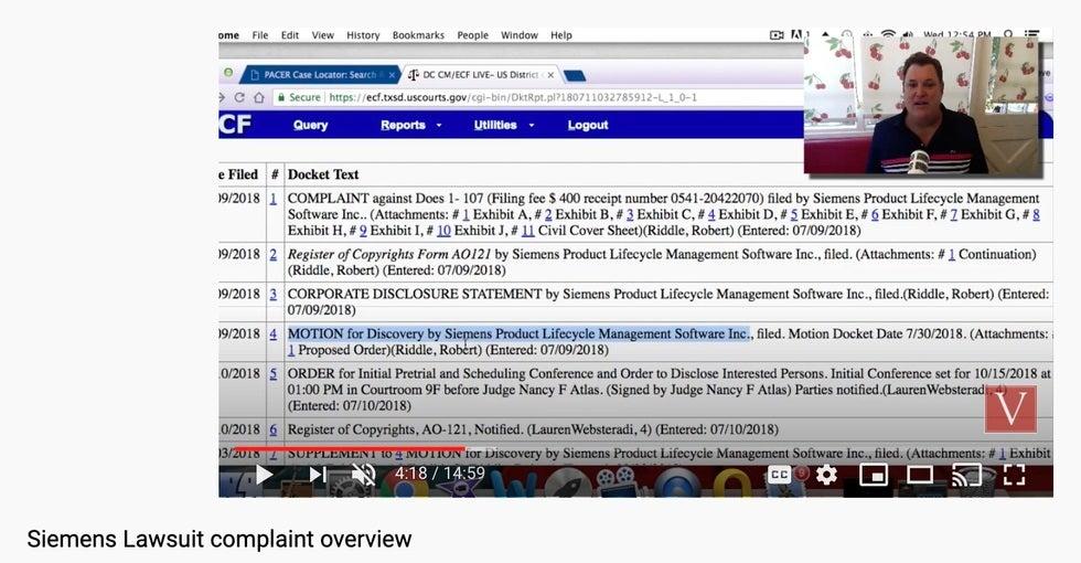Siemens torrent lawsuit