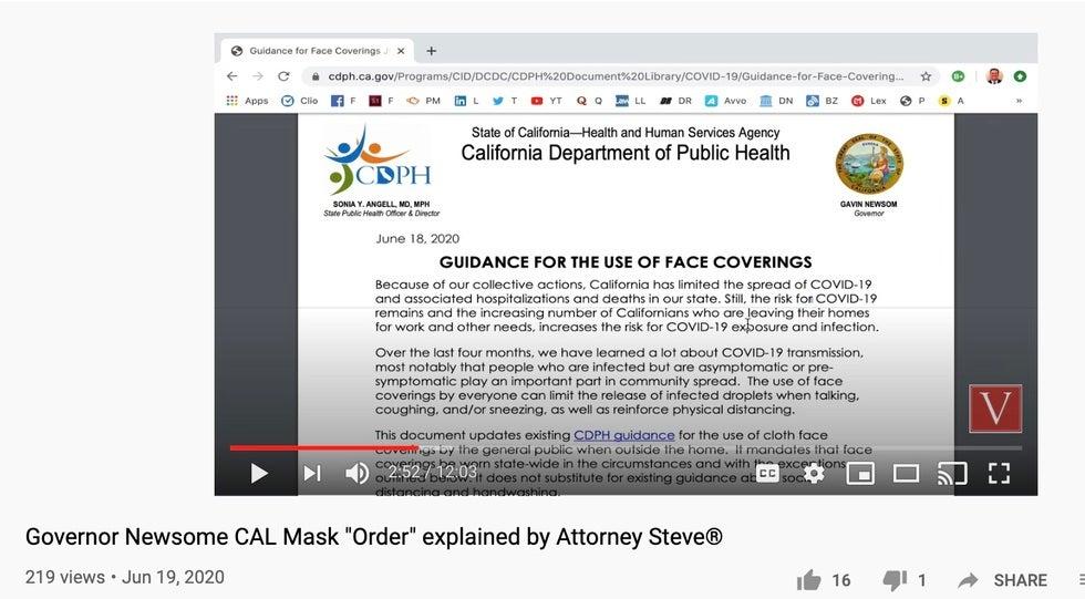 California Covid Lawyer
