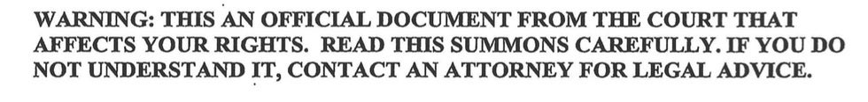 Subpoena response California attorney