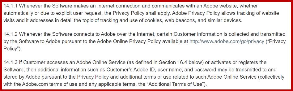 Adobe software piracy defense