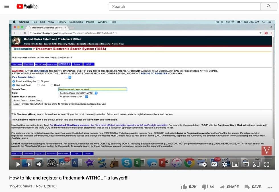 Trademark filing tutorial