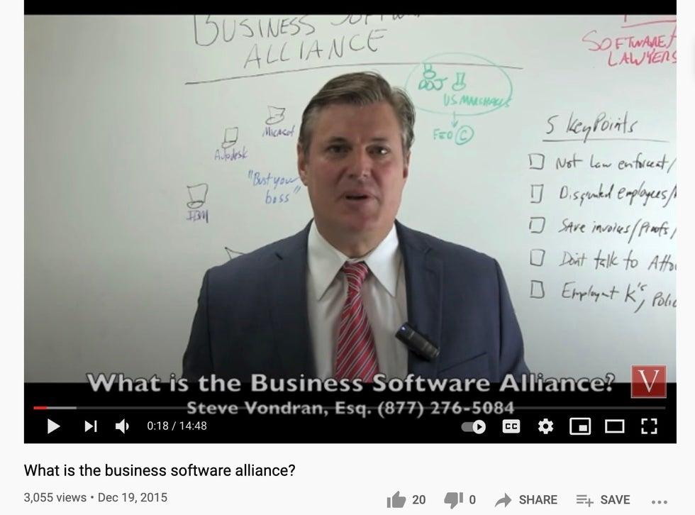 BSA software defense law firm