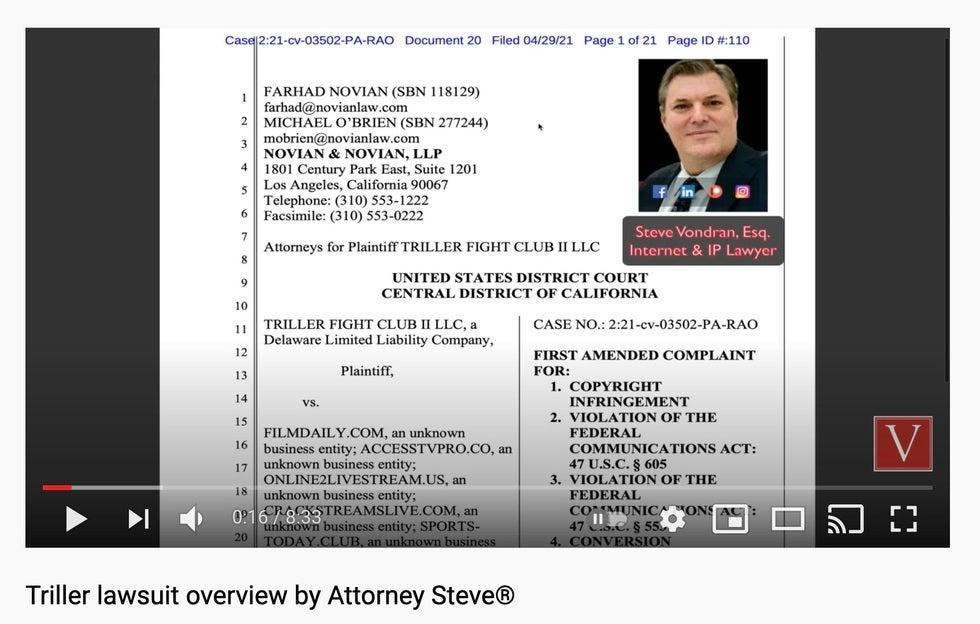 Triller lawsuit