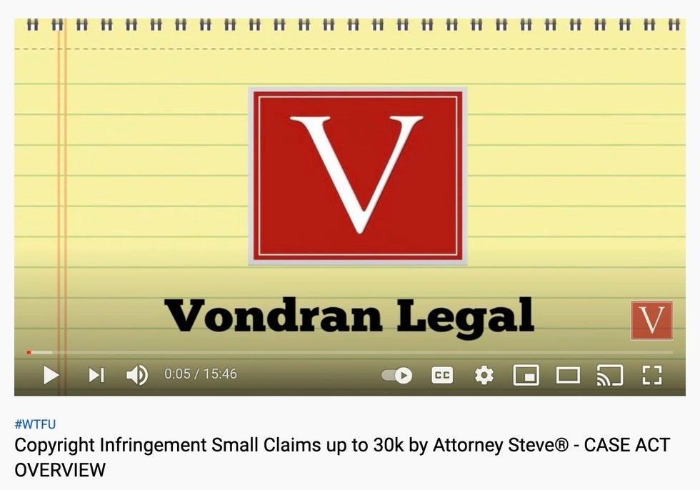 Federal copyright lawsuit defense