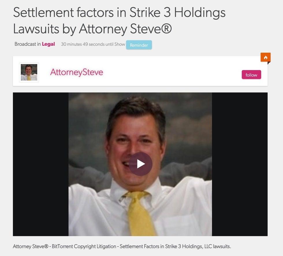 Strike 3 settlement factors