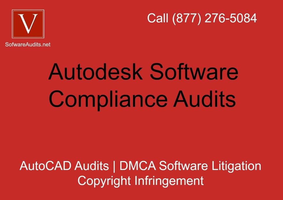 AutoCAD piracy defense audit