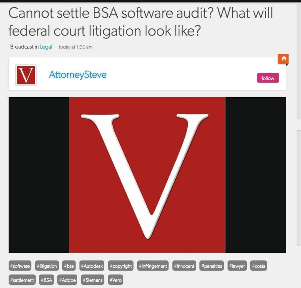 software audit licensing defense law firm CA