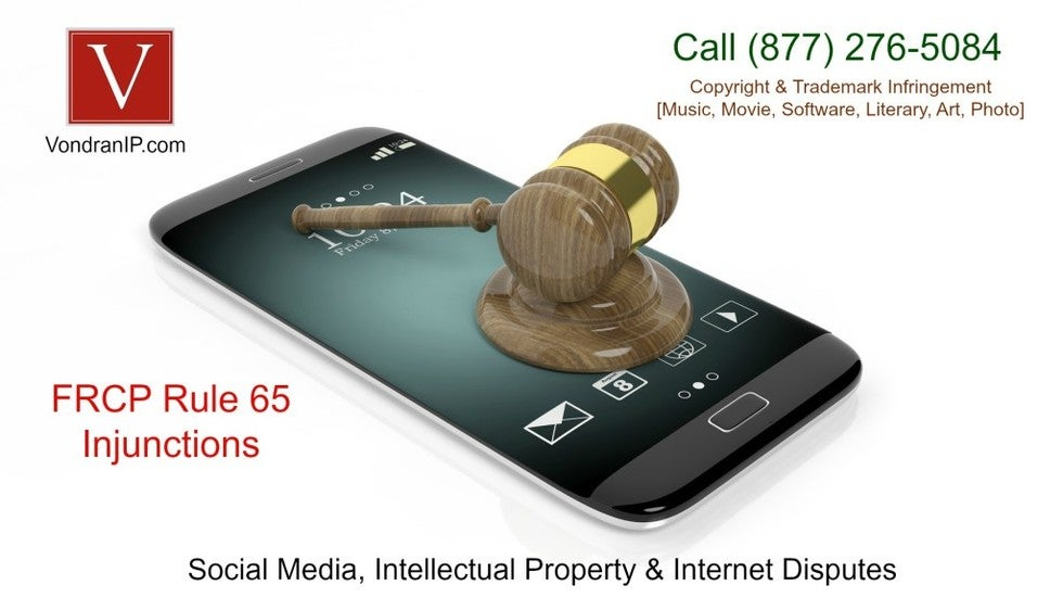 California copyright injunction law firm