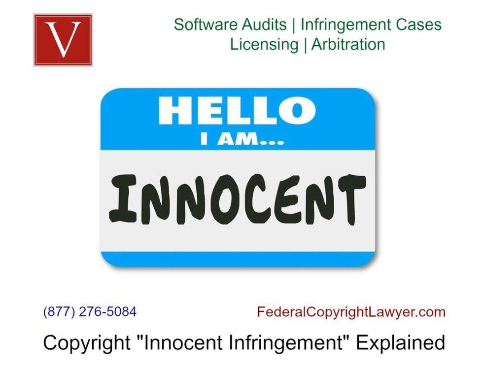 what is copyright innocent infringement?