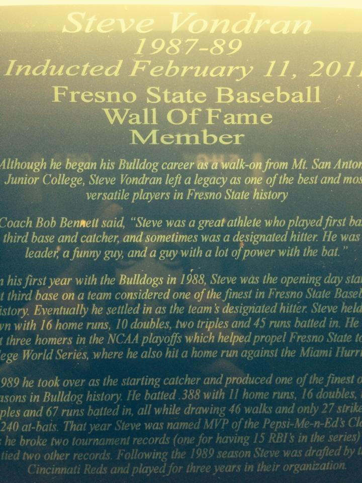 hall of fame baseball steven vondran