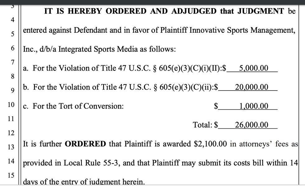 California federal court lawsuit