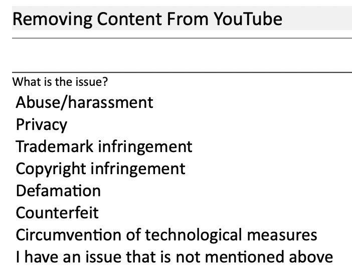 YouTube Account Takedown