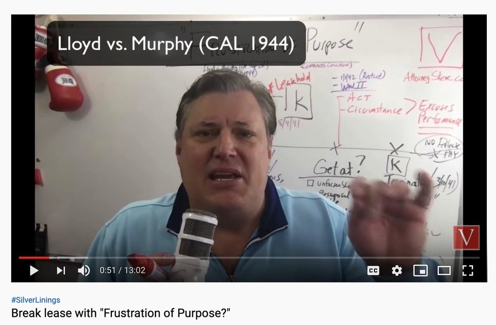 California Contract lawyer frustration of purpose