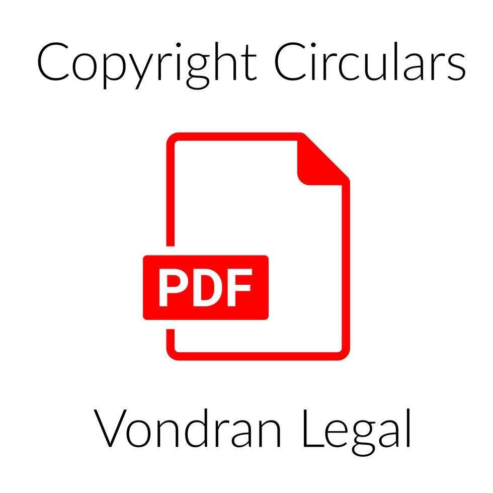 U.S. Copyright Circulars