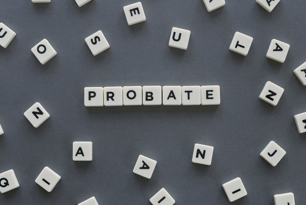 letter tiles spelling probate