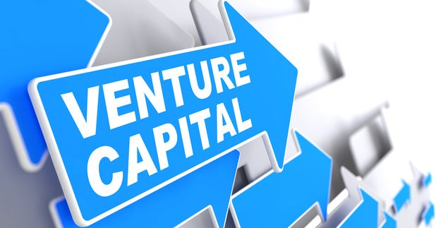 Venture Capital on Direction Arrow Sign.