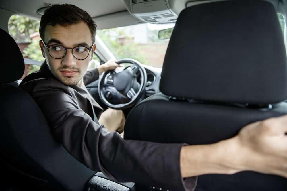 Guy driving Lyft
