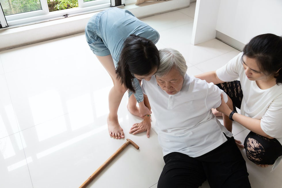 Elderly Person Falling Down