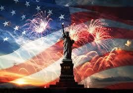 American Flag and Statute of Liberty