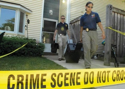 crime scene tape in violent crime cases including murder and weapon assaults