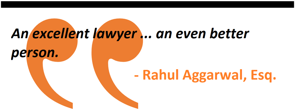 An excellent lawyer ... an even better person.