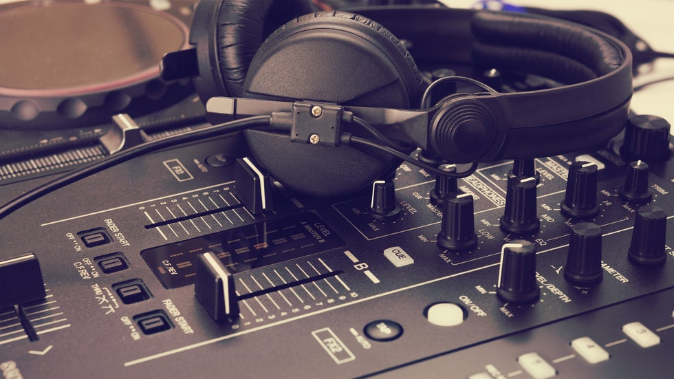 Studio Headset and sound board for music and musician producers