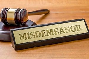 Misdemeanor Crimes in California