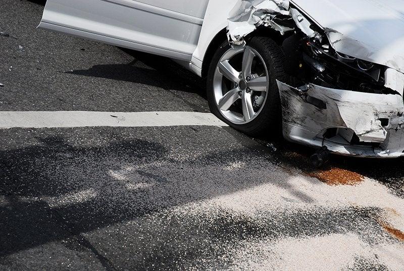 Crashed car small