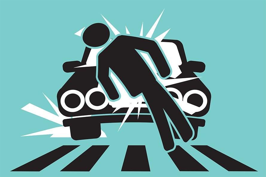 Car vs pedestrain