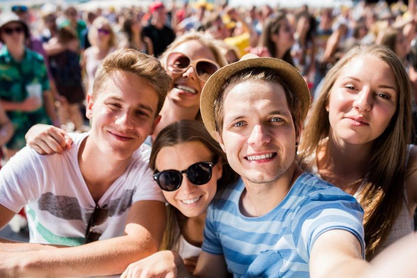Crowd at music festival goldberg noone