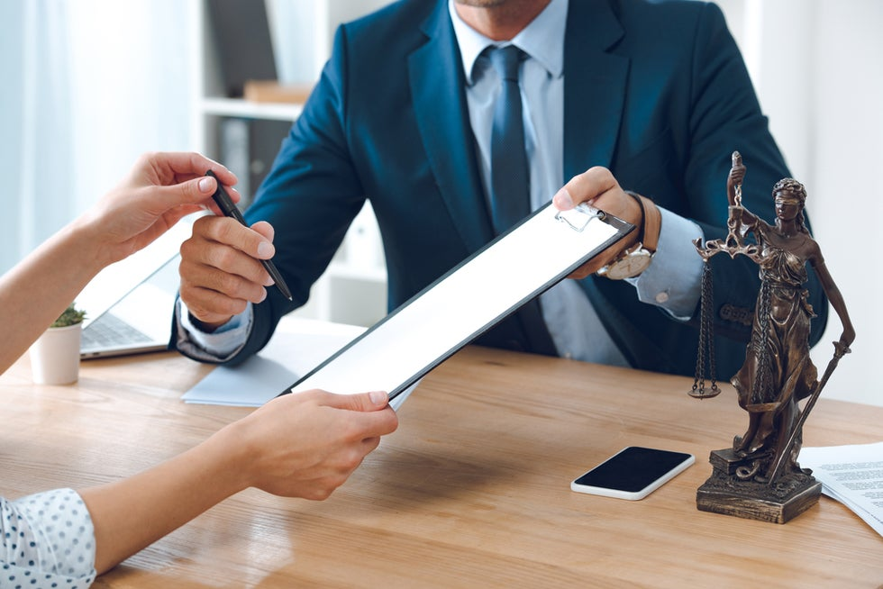 person hiring a work injury lawyer
