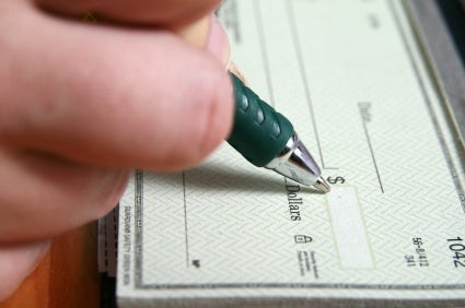 Alimony and Child Support Check