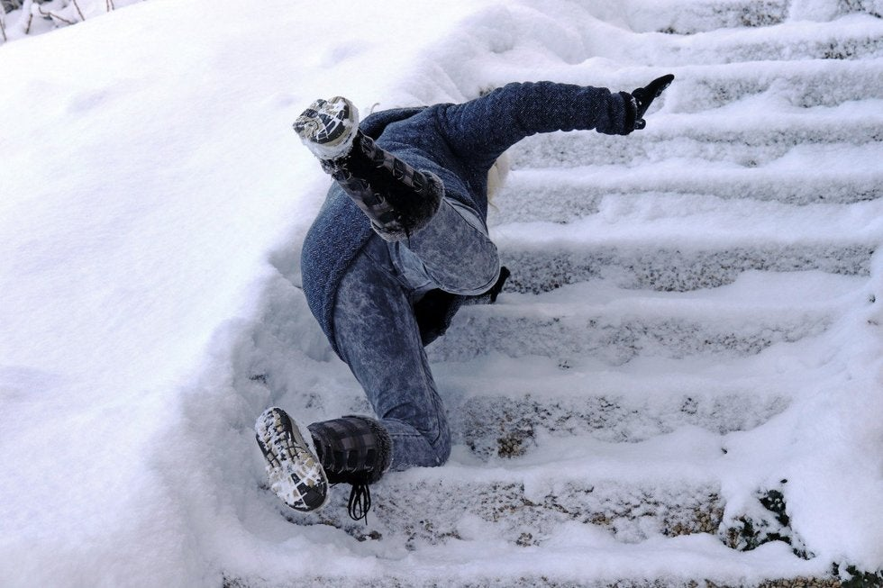 Slip and Fall on Ice Image from Anchorage Personal Injury Law Firm