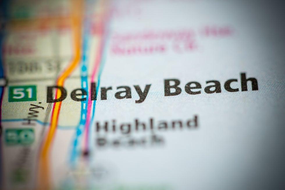 Map of Delray Beach