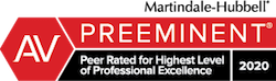 Martindale-Hubbell Preeminent 2020 Badge