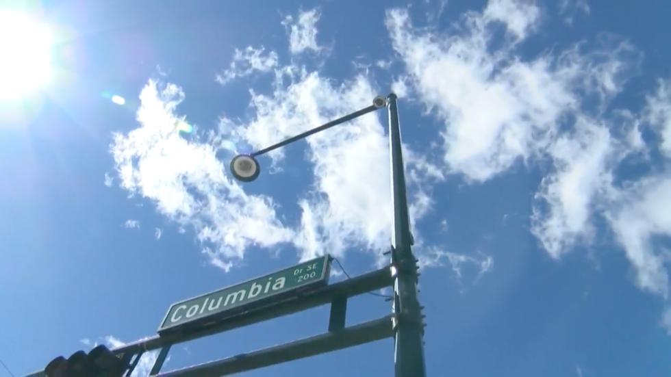 A traffic camera