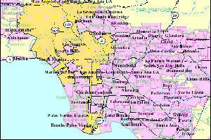 Map of Los Angeles Cities