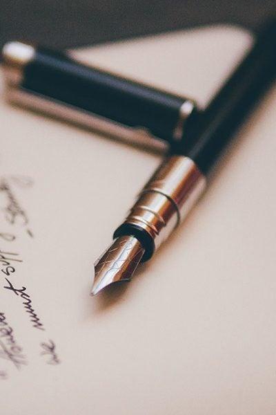 ink pen on paper edmond ok