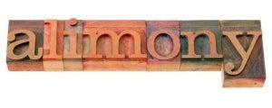 blocks the word alimony