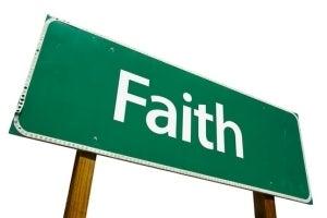 sign that says faith