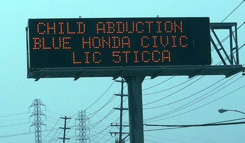 child abduction sign