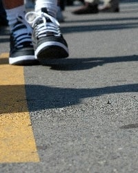 walking a straight line