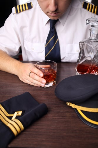 pilot drinking