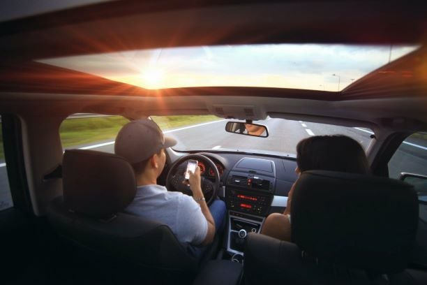 Holding Phone While Driving - Fairfax County