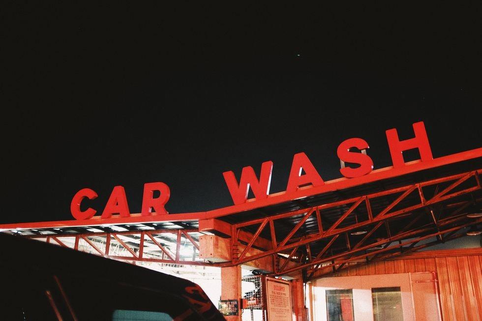 Sign for Car Wash