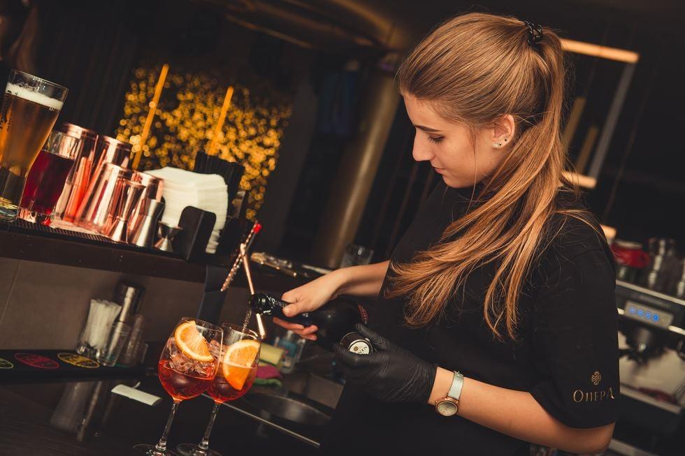 Woman bartender